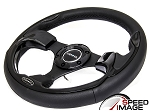 NRG - Pilota Series Sport Steering Wheel - 320mm - Leather with Black Inserts